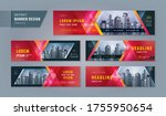 abstract banner design web... | Shutterstock .eps vector #1755950654