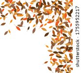 leaves. throw autumn leaves.... | Shutterstock .eps vector #1755952217