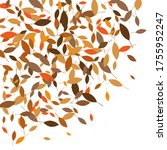 leaves. throw autumn leaves.... | Shutterstock .eps vector #1755952247