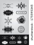 decorative lines  decoration... | Shutterstock .eps vector #175595345