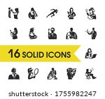 people icons set with director  ...