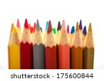colored pencils on white ...   Shutterstock . vector #175600844