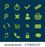 technology design over blue ... | Shutterstock .eps vector #175603157