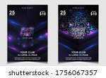 night dance party music poster...   Shutterstock .eps vector #1756067357