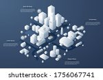 isometric map or scheme of city ... | Shutterstock .eps vector #1756067741