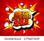 mega explosive sale design ... | Shutterstock .eps vector #175607639