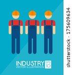 industry design over  blue ... | Shutterstock .eps vector #175609634