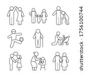 pictogram coupleand people icon ... | Shutterstock .eps vector #1756100744