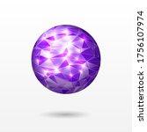 abstract vector polygonal... | Shutterstock .eps vector #1756107974