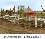Poor African House Near Nile...