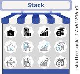 new trend stack icon set....