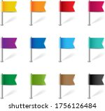 location pin flags set isolated ... | Shutterstock .eps vector #1756126484