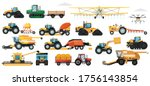 agricultural machinery set.... | Shutterstock .eps vector #1756143854