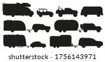 travel car silhouette. camping... | Shutterstock .eps vector #1756143971