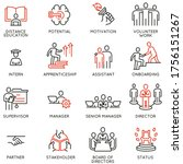 vector set of linear icons... | Shutterstock .eps vector #1756151267
