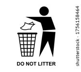 do not litter flat icon...