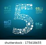 application icons alphabet... | Shutterstock .eps vector #175618655