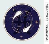 modern magic witchcraft card... | Shutterstock .eps vector #1756204487