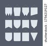 pennant banner mockup set.... | Shutterstock .eps vector #1756219127
