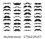 Mustache Silhouette Set....