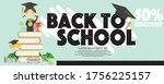 back to school 50 percent... | Shutterstock .eps vector #1756225157