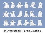 ghost character flat cartoon... | Shutterstock .eps vector #1756233551