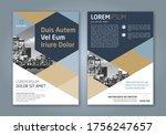 abstract minimal geometric... | Shutterstock .eps vector #1756247657