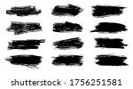 brush strokes. vector... | Shutterstock .eps vector #1756251581