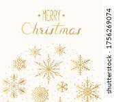 magic merry christmas golden... | Shutterstock .eps vector #1756269074