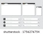 set of browser windows in... | Shutterstock .eps vector #1756276754