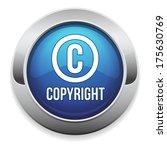 Blue Round Copyright Button...