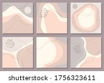 beautiful pastel set of social... | Shutterstock .eps vector #1756323611