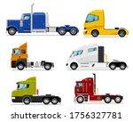 semi truck set. isolated...   Shutterstock .eps vector #1756327781