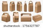 craft food box. cardboard lunch ... | Shutterstock .eps vector #1756327787