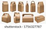 craft food box. cardboard lunch ... | Shutterstock .eps vector #1756327787