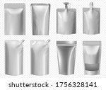 doy pack template. foil pouch... | Shutterstock .eps vector #1756328141