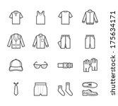 men clothing icons | Shutterstock .eps vector #175634171