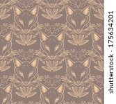 Seamless Pattern With Cute Foxes