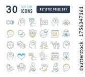 set vector line thin icons of... | Shutterstock .eps vector #1756347161