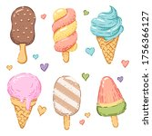 ice cream isolated on a white...   Shutterstock .eps vector #1756366127