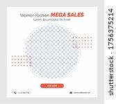 fashion mega sale template... | Shutterstock .eps vector #1756375214