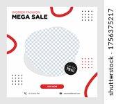 fashion mega sale template... | Shutterstock .eps vector #1756375217