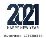 2021 image  happy new 2021 year.... | Shutterstock .eps vector #1756386584