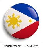 Philippines Flag Icon Isolated...