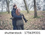 couple in love at the park... | Shutterstock . vector #175639331