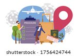 airplane passengers man and... | Shutterstock .eps vector #1756424744