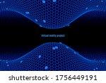 hexagonal abstract background.... | Shutterstock .eps vector #1756449191