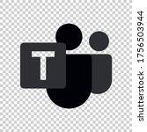 microsoft teams logo remote...   Shutterstock .eps vector #1756503944