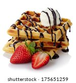 Belgium Waffles With Chocolate...