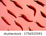 Red Chilli Peppers Pattern On...